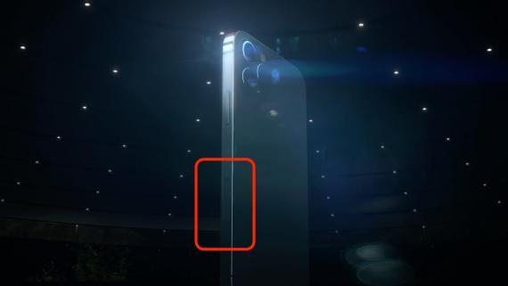 Sensor mmWave del iPhone 12.