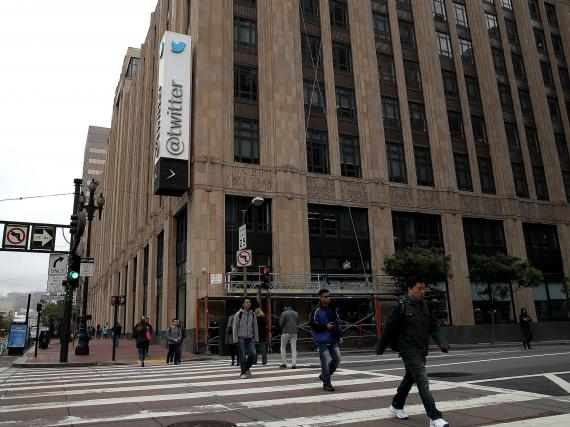 Twitter's headquarters in San Francisco. Justin Sullivan/Getty Images