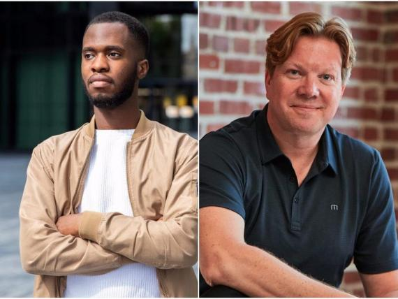 Wilfrid Obeng y Rikard Steiber ex empleados de Google y empresarios.