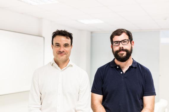 Ángel Mayoral (i) y Alberto García (d), cofundadores de Homyspace