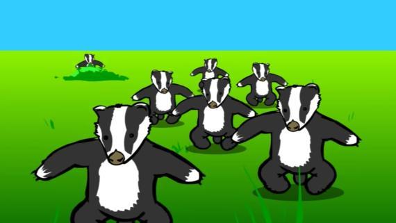 Badger, badger, badger, badger, mushroom, mushroom: un meme de principios de los 2000.