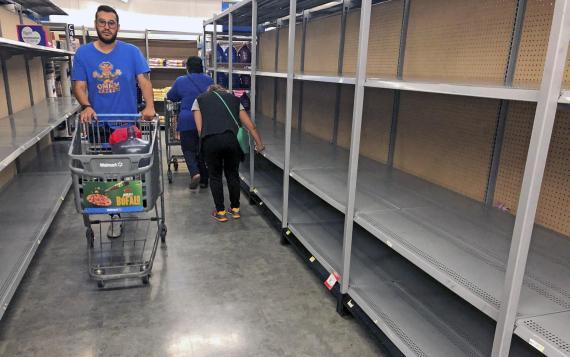 Desabastecimiento en los supermercados