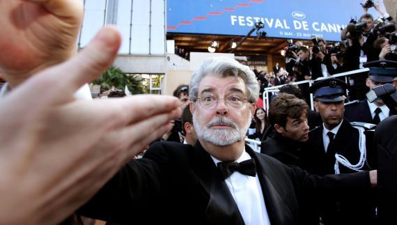 El director y productor de cine George Lucas