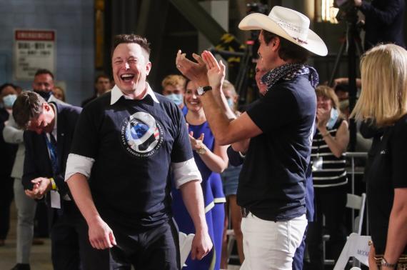 Elon Musk, fundador de Tesla, tras un lanzamiento de SpaceX en Cabo Cañaveral