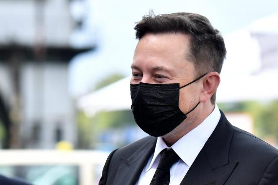 Elon Musk in Berlin on September 2.