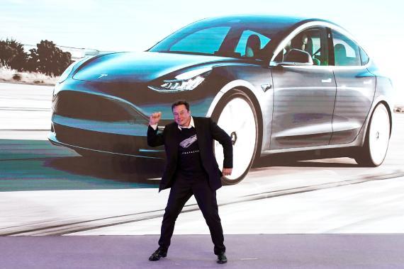 Musk, durante la presentación del Tesla Model 3 en Shangai