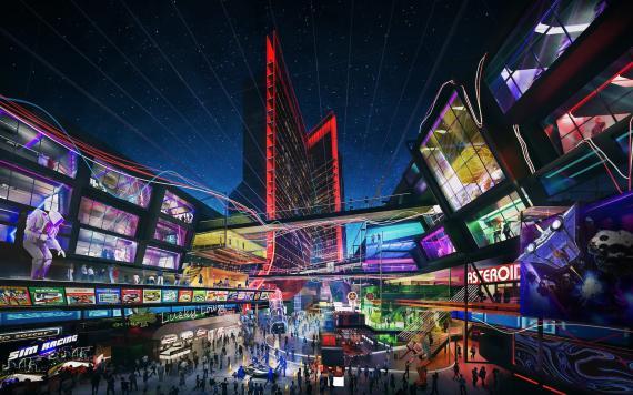 """Smith describe los hoteles como si tuvieran """"ciudades dentro""""."""