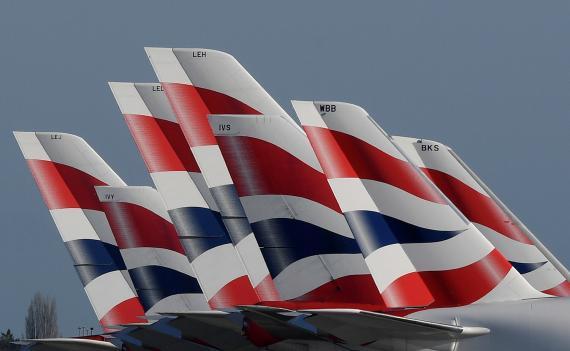 Aviones de la aerolínea británica British Airways