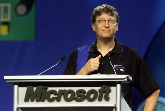 Bill Gates de joven.