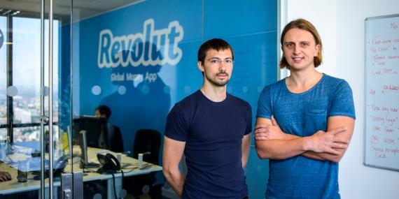 Los cofundadores de Revolut, Vlad Yatsenko, a la izquierda, y Nikolay Storonsky, a la derecha.