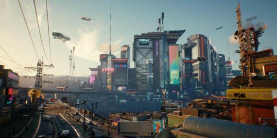 "Night City in ""Cyberpunk 2077."""