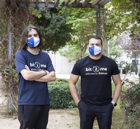 Los fundadores de Bit2Me: Leif Ferreira y Andrei Manuel.