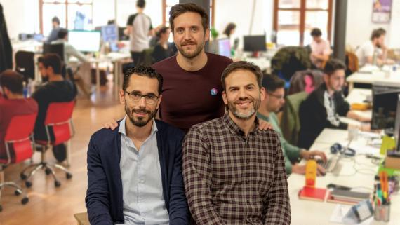 Los fundadores de Genial.ly, Chema Roldán (CTO), Luis García (CMO) y Juan Rubio (CEO).
