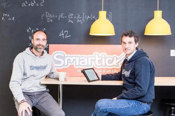 Los fundadores de Smartick, Daniel González de Vega y Javier Arroyo.