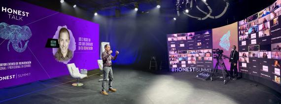 Héctor Robles, durante el evento virtual Honest Summit