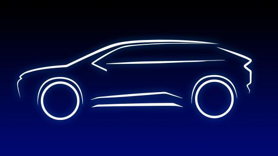 Imagen promocional del primer SUV eléctrico puro de Toyota