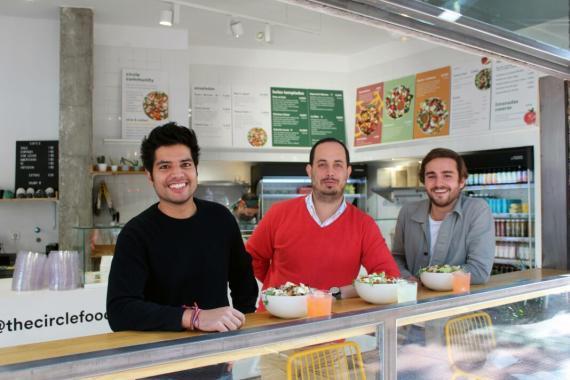 Karan Anand, cofundador; Carlos Esquivel, CTO; y Diogo Cunha, cofundador de Katoo (de izquierda a derecha).