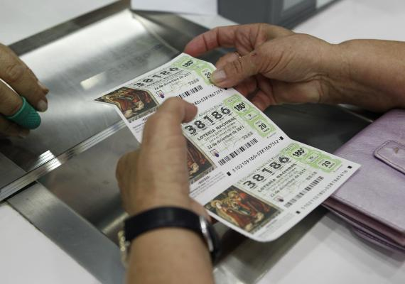 lotería, décimo de lotería de Navidad