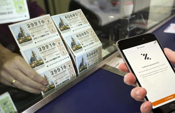Pago de lotería a través de Bizum