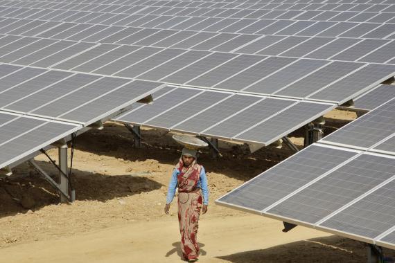 Una planta fotovoltaica en la India