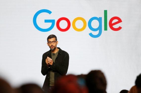 Sundar Pichai, CEO de Google, durante una presentación en San Francisco