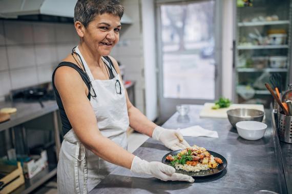 Abuela cocinera.