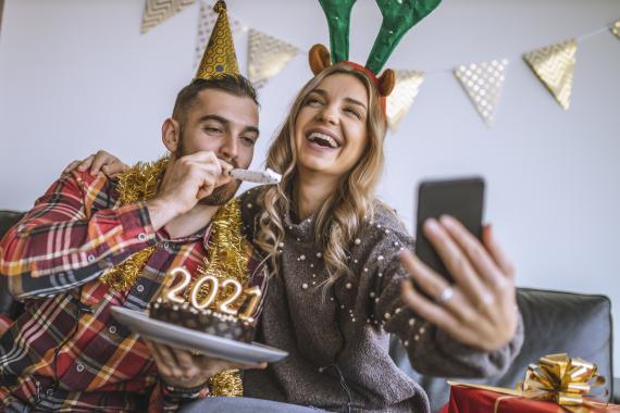 Año nuevo con el móvil