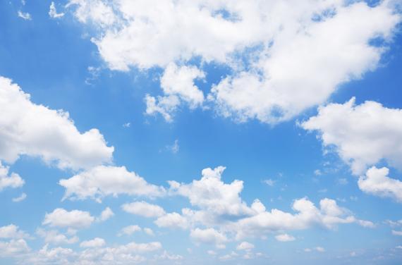 Cielo azul.