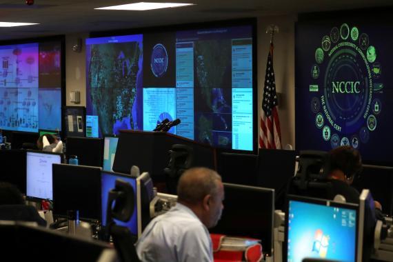 Centro Nacional de Integración de Ciberseguridad y Comunicaciones, en Virginia, EE. UU.