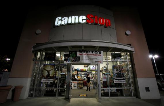 Fachada de una tienda de GameStop