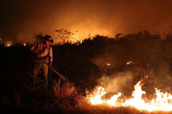 Incendio en el Amazonas en septiembre de 2020.