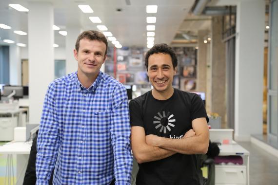 Jon Uriarte (i) y Ander Michelena (d), fundadores de Ticketbis y de All Iron