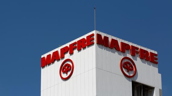 El logotipo de Mapfre en su sede de Sevilla