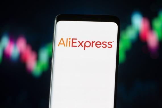 Logotipo de la plataforma china AliExpress
