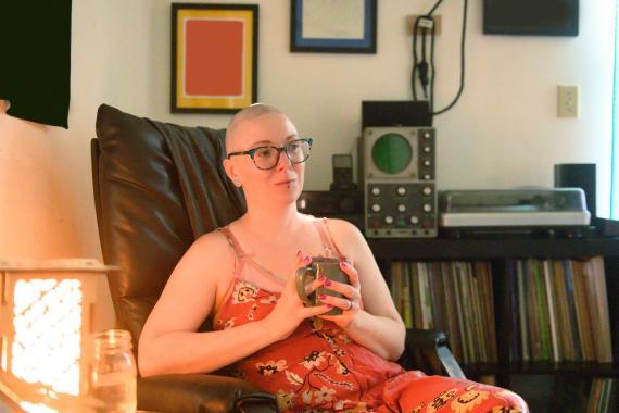 Mujer con cáncer de mama.