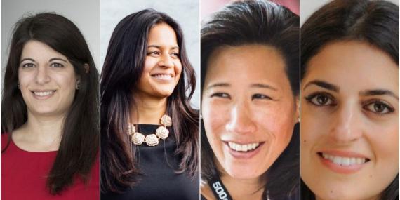 Principales inversores en tecnología financiera: Rana Yared (Balderton Capital), Reshma Sohoni (Seedcamp), Eileen Burbidge (Passion Capital) y Leila Zegna (Kindred Capital).