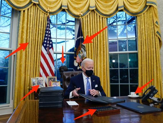 El presidente Joe Biden ha realizado algunos cambios de estilo en el despacho oval.