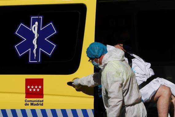 Ambulancia de la Comunidad de Madrid.