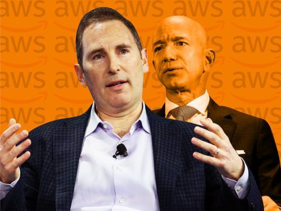 Andy Jassy y Jeff Bezos.