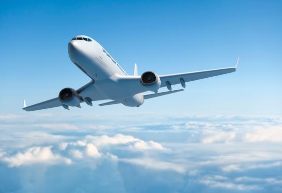 Avión blanco.