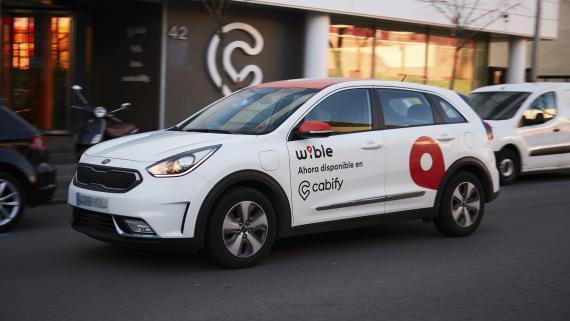 Un coche de la compañía de carsharing Wible.