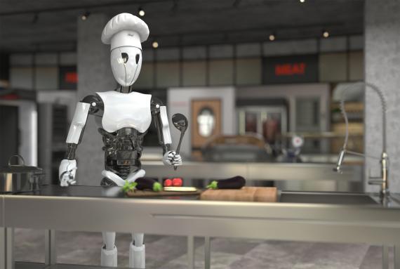 Camarero y cocinero son dos trabajos en peligro por la inteligencia artificial (gettyimages)