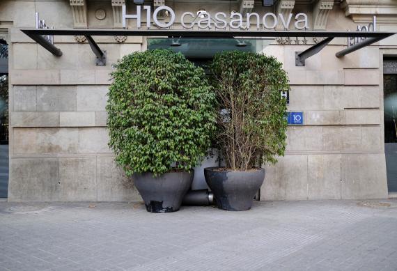 Hotel cerrado en Barcelona por la pandemia