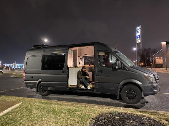 Pasé un fin de semana en una caravana.
