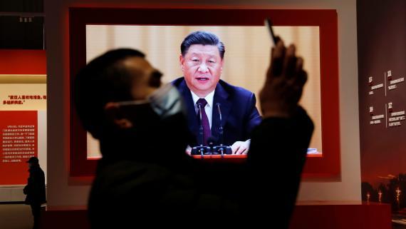 El presidente chino, Xi Jinping, durante un discurso a finales de 2020.
