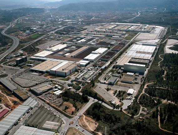 Una imagen aérea de la planta de Seat en Martorell, Barcelona.