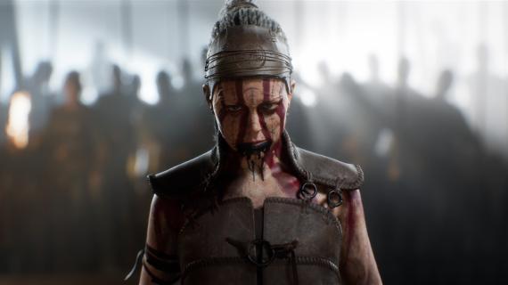 Imagen promocional de Senua en 'Hellablade 2'.