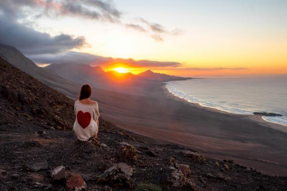 Atardecer en un viaje paradisíaco