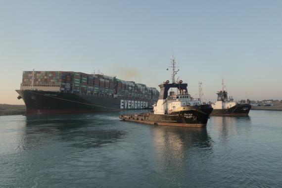Bloqueo del Canal de Suez.