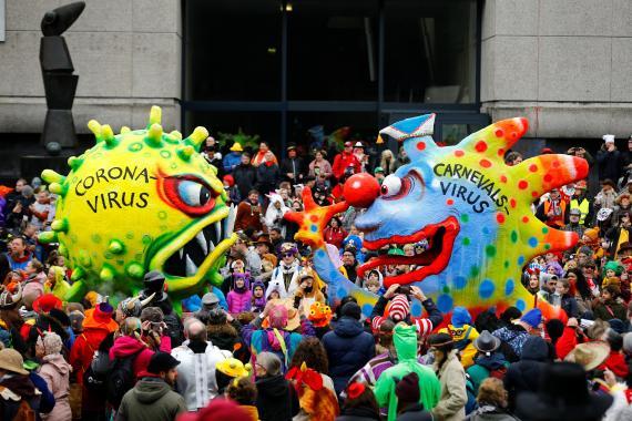 Desfile de carnaval en Dusseldorf, Alemania, en febrero de 2020.